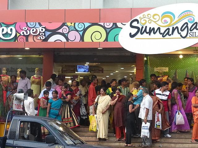 Around town - popular saree shop
