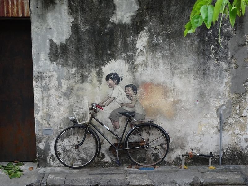 Mural - Kids on bicycle
