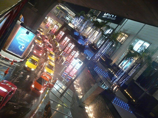 Night scene near Siam Paragon Centre