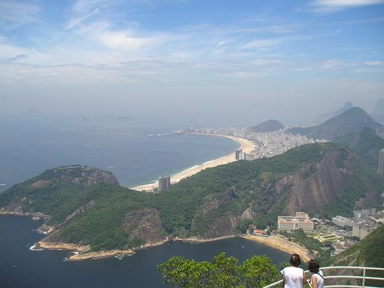 Sugar Loaf Mountain - View to Copacabana