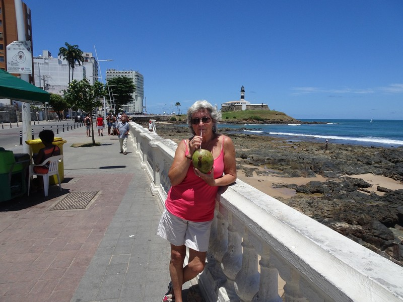 Barra - other beach area - fresh coconut juice - delicious and refreshing
