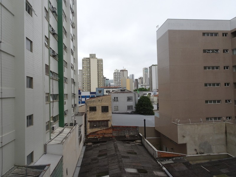 Aladdin Hotel Curitiba - view from our bedroom at back of hotel!!