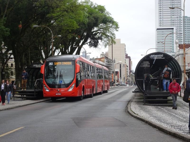 Bus shelter pods (a Curitiba speciality)