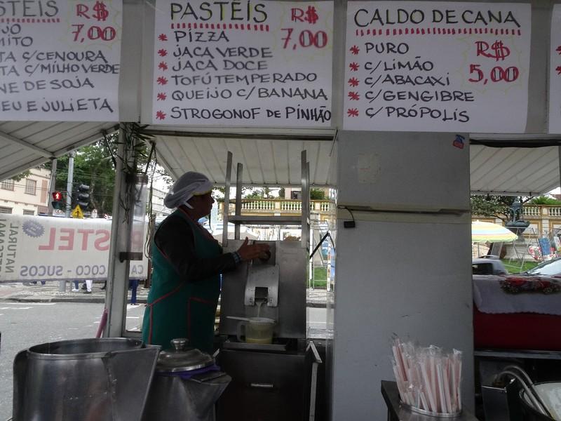Sunday craft market in Centro Historico - Making fresh sugar cane juice