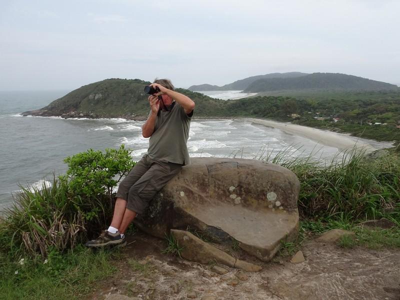 Farol de Conchas - taking photos of Frigatebirds