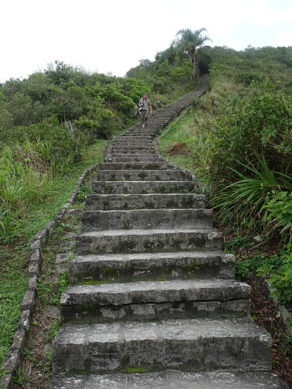 Steps up to Farol das Conchas