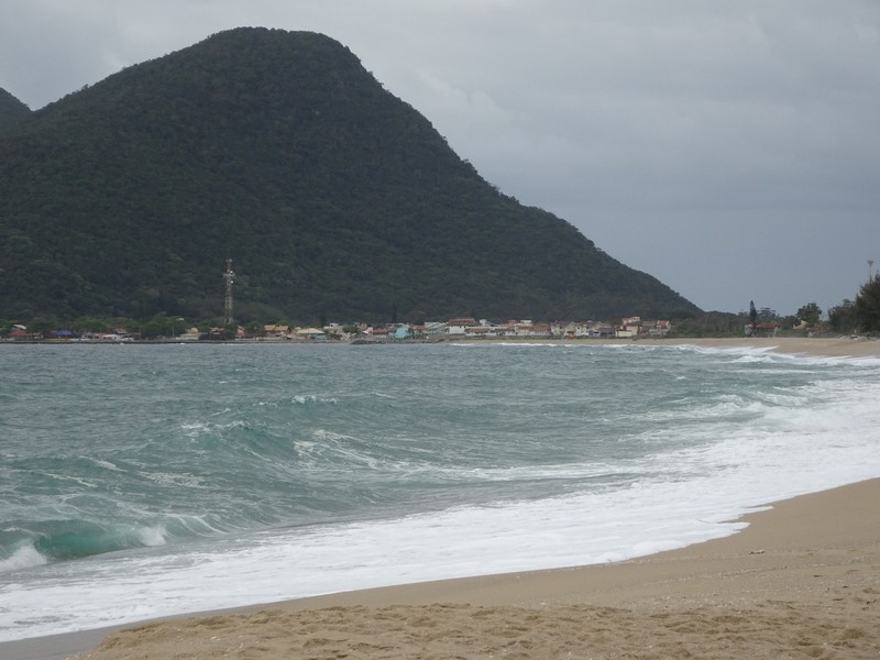 Approaching Armacao on the beach
