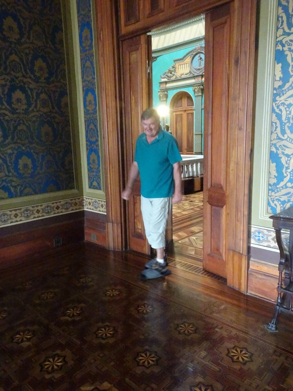 Museo Historico - shuffling around the superb wooden floors in over-slippers
