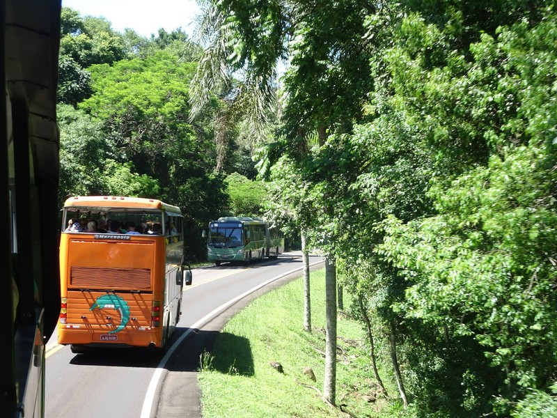 Iguacu Falls (Brazil side) - transport from entrance to start of falls trail