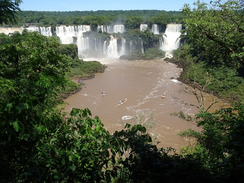 Iguacu Falls - view from initial viewpoint