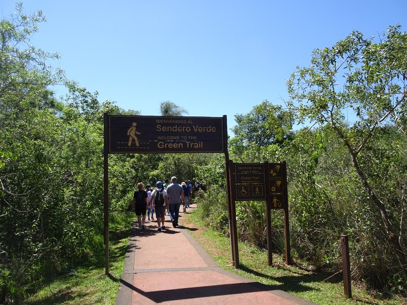 Iguazu Falls Argentina - Green trail (short trail near entrance leading to main circuits)