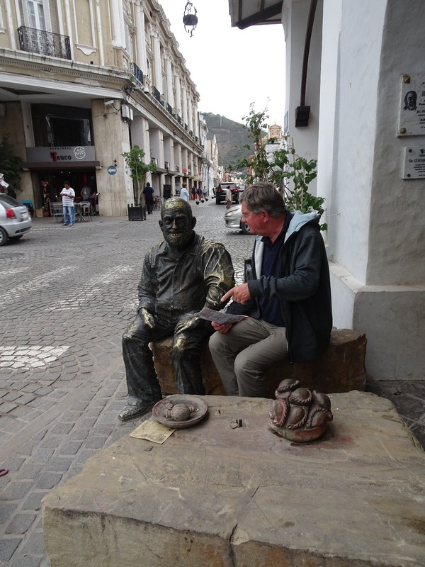 Around Salta on a grey day - chatting to a local!