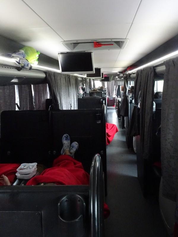 Overnight bus - Salta to Cordoba (Cama class)