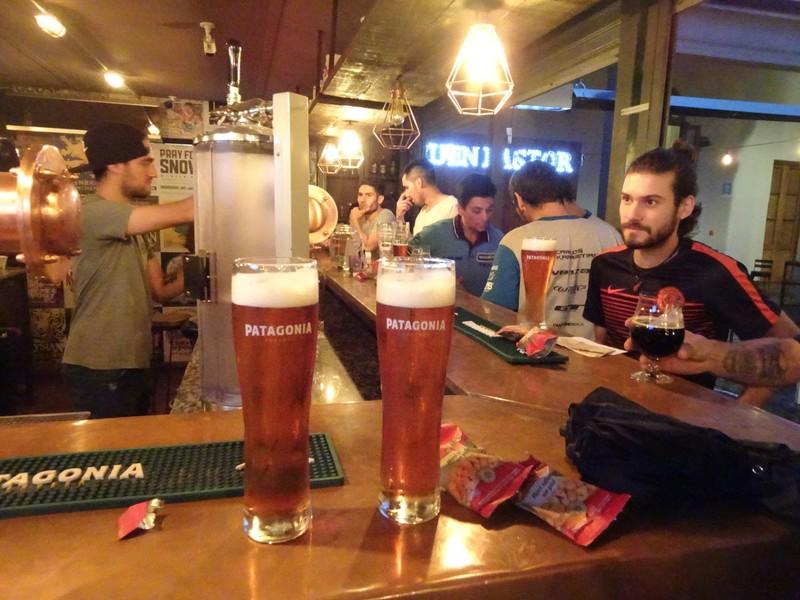 "Paseo del Buen Pastor - Patagonia beer bar - excellent ""km 24.7"" beer"