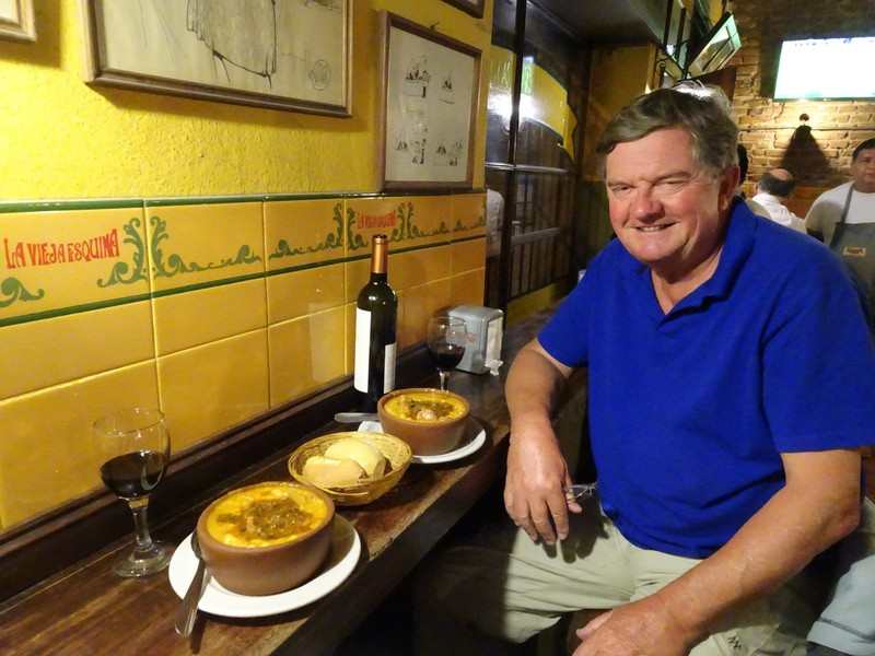 La Vieja Esquina for dinner (with Locra - meat and corn stew)