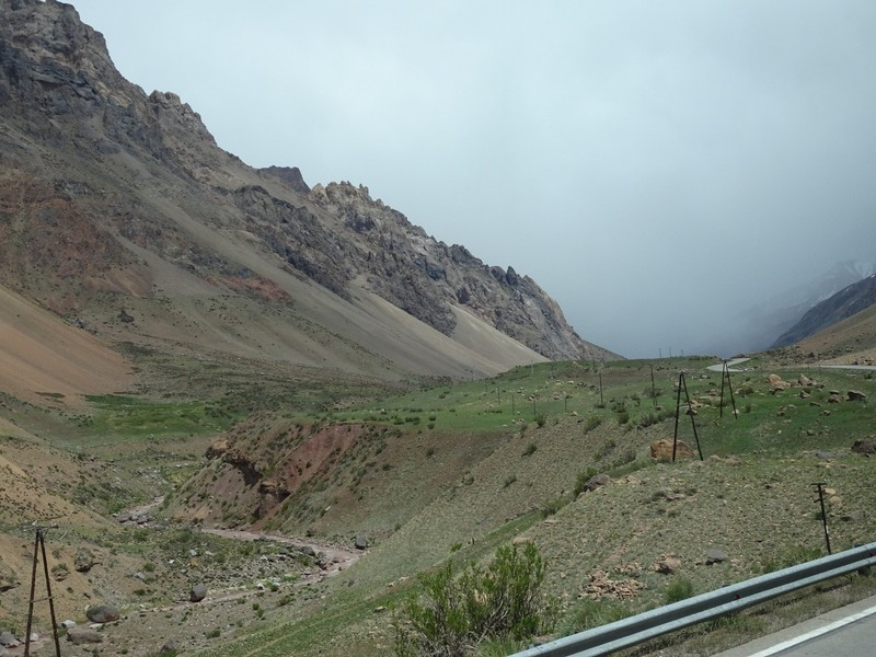 Mendoza to Chile across the Andes - oops, weather does not look too good up front!