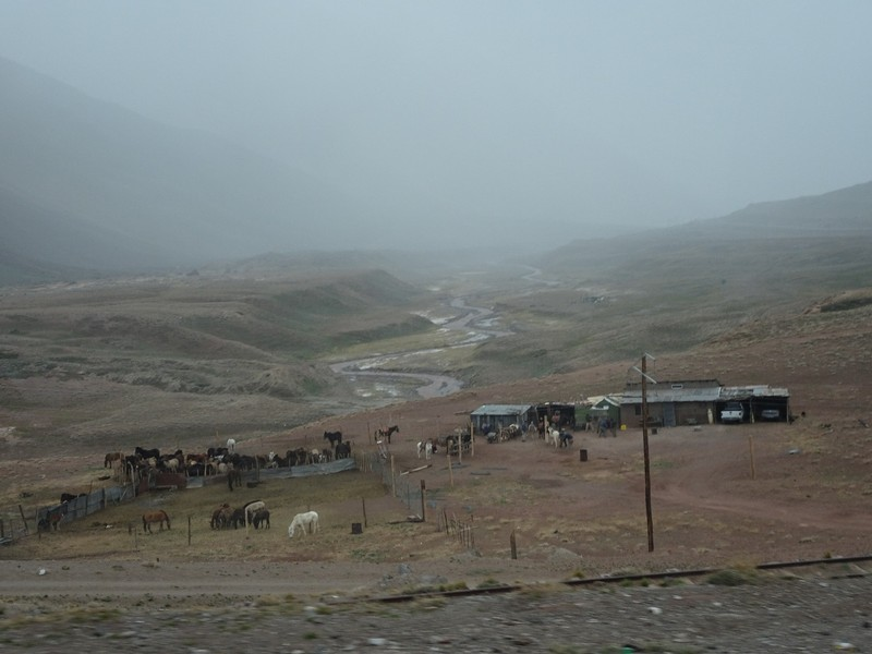 Mendoza to Chile across the Andes - weather deteriorating