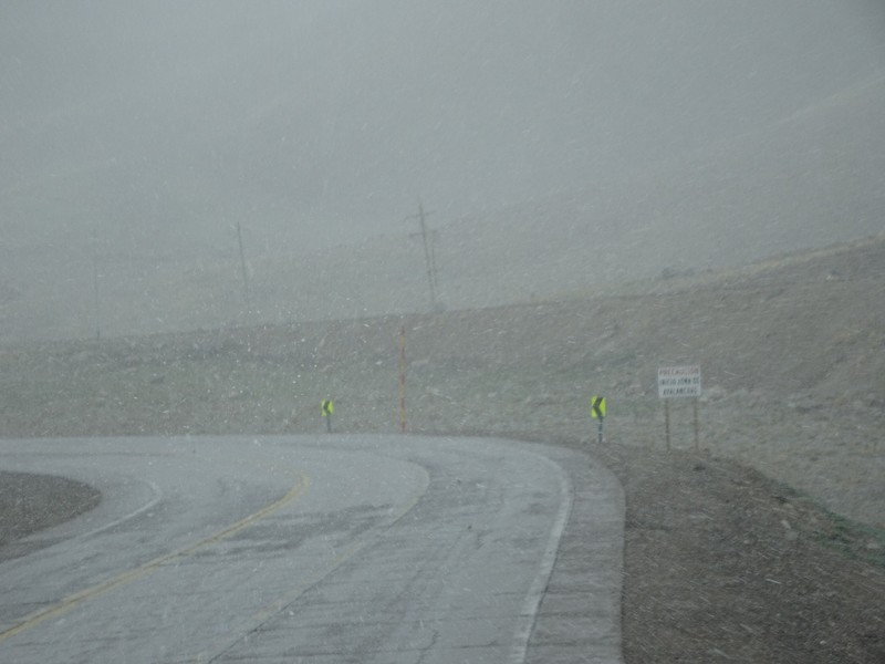 Mendoza to Chile across the Andes - weather deteriorated