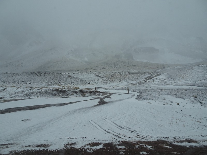 Mendoza to Chile across the Andes - weather deteriorated!