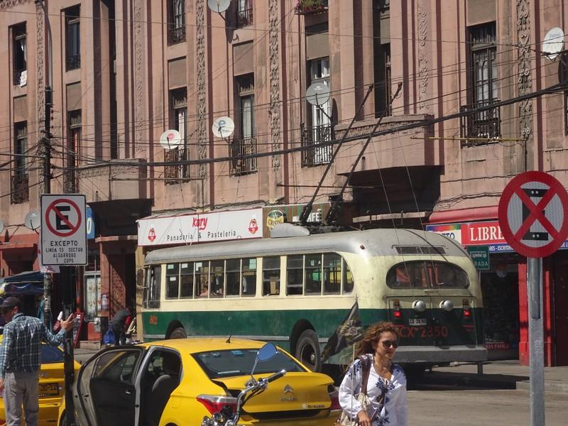 Trolley bus around Valparaiso town