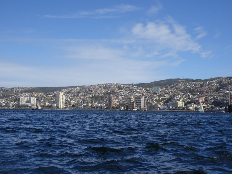 Harbour tour - view of Valpairaiso hills