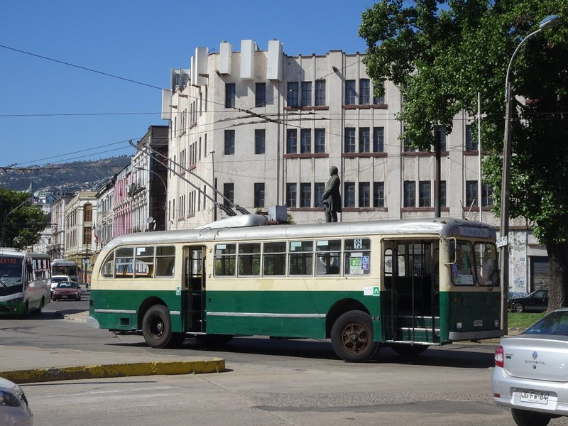 Swiss built 1950's trolley bus