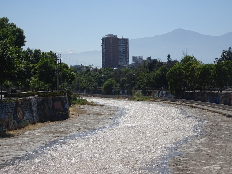 Santiago river on the way to Cerro San Cristobel