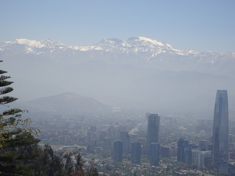 Cerro San Cristobel Park - View to Andes