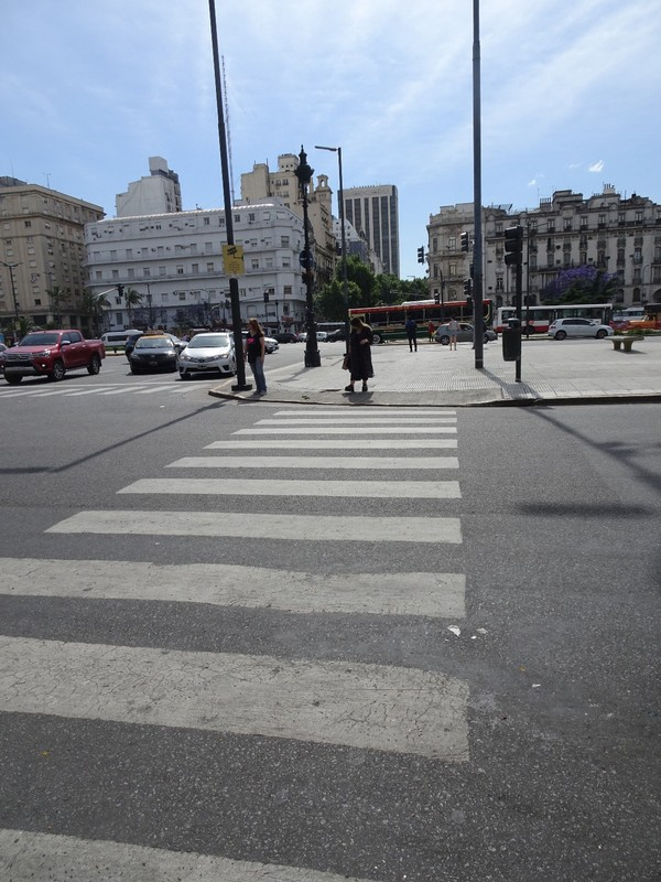 Avenida 9 de Julio - a very wide boulevard to cross!