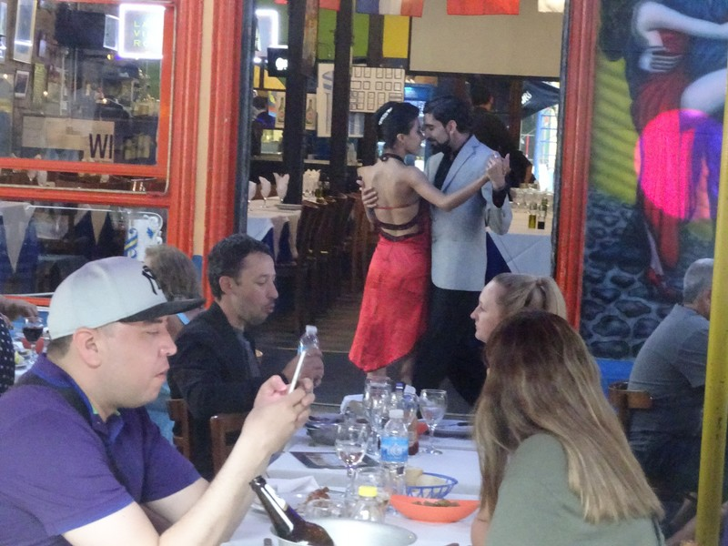 La Boca - Tango performers - and interested onlookers?!