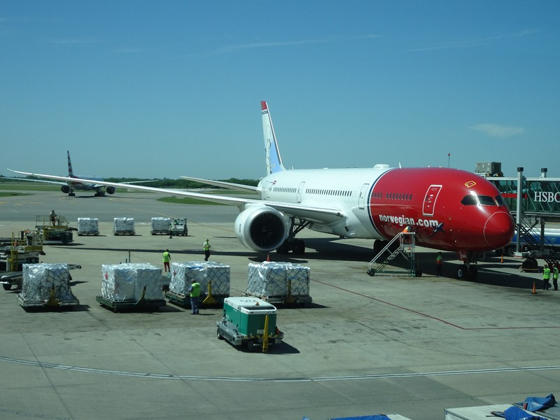 Norwegian Airlines - a first for us...