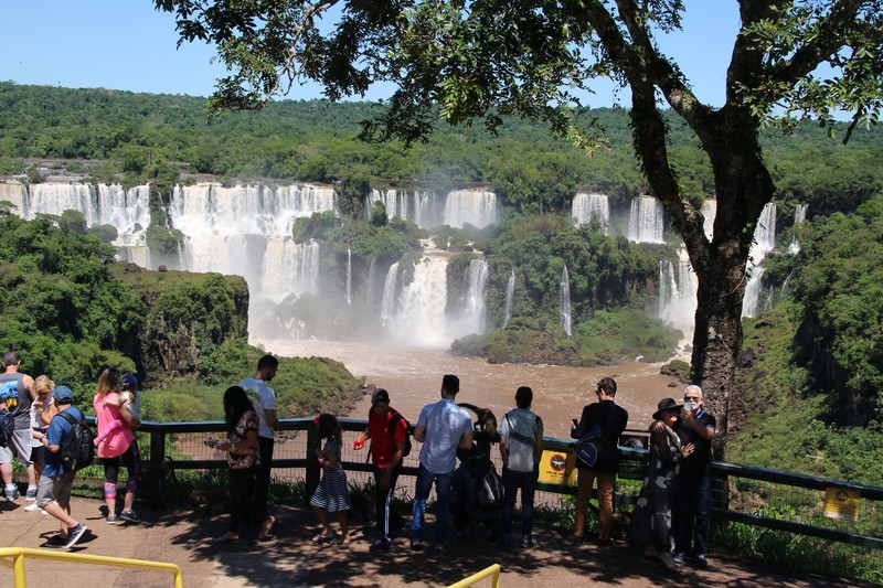 First view of Iguacu falls