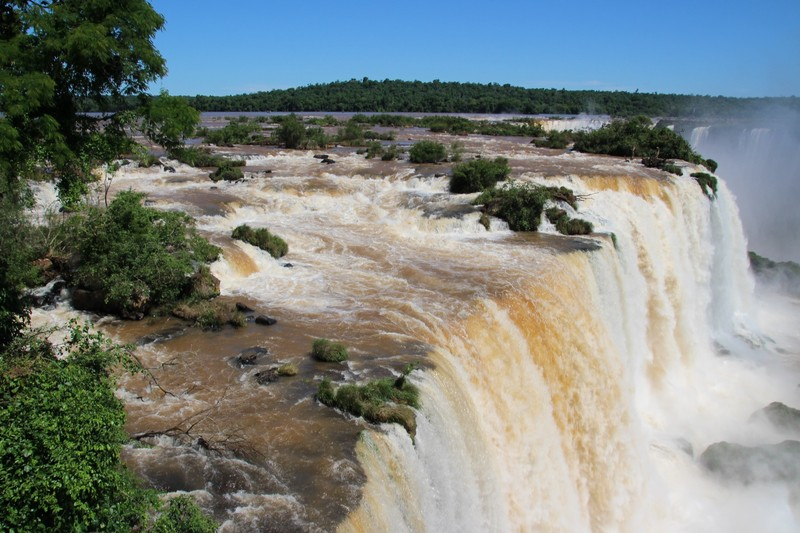 Iguacu Falls (Brazil side) - view from above falls
