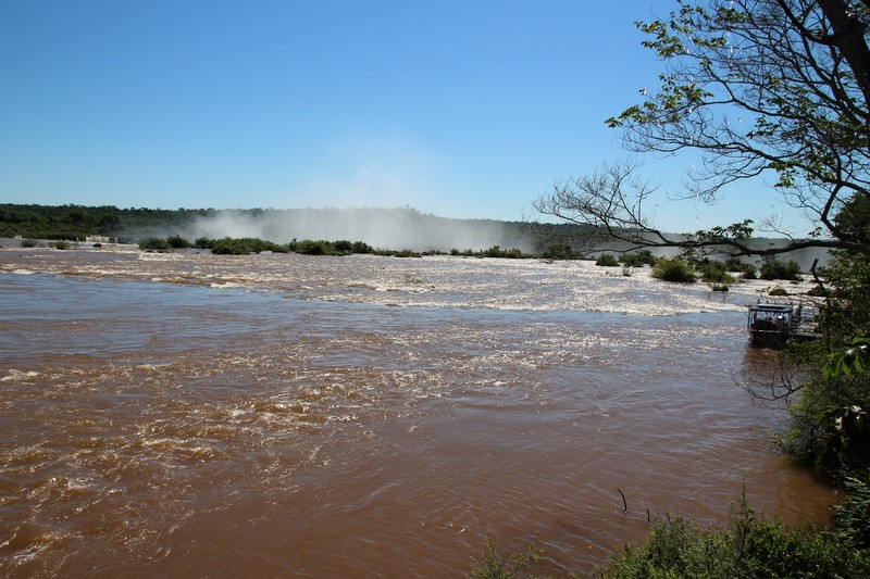 Iguacu Falls (Brazil side) - river leading to falls