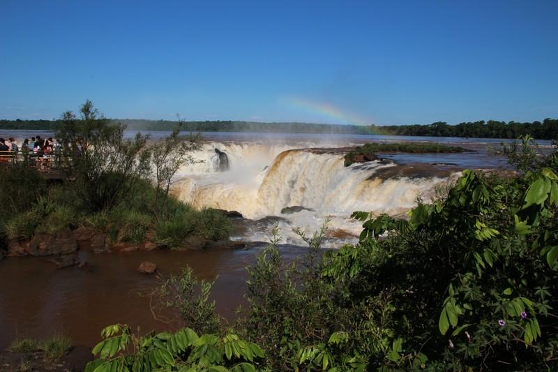 Iguazu falls Argentina - approach to Garganta del Diablo (Devil'sThroat)