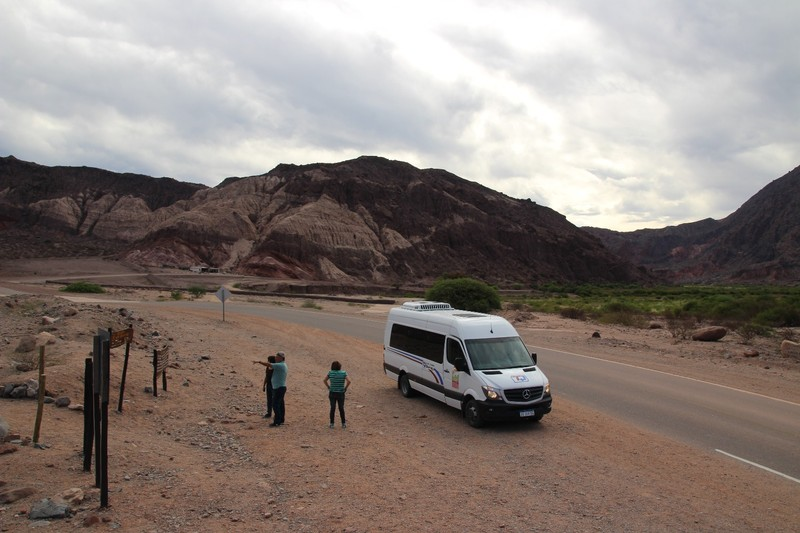 On the way back from Cafayate - our transport