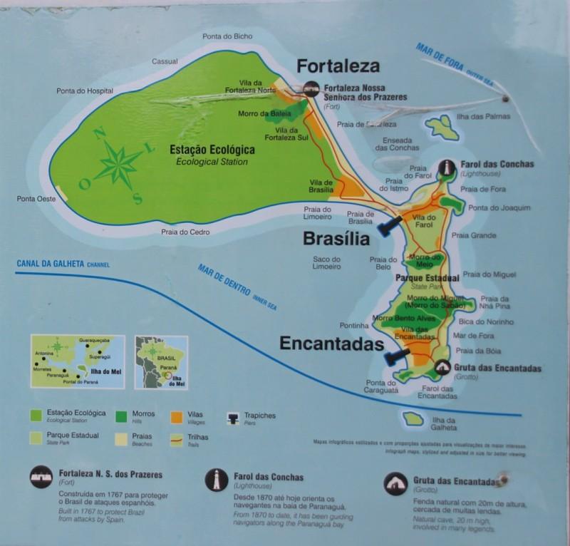 Ilha do Mel map