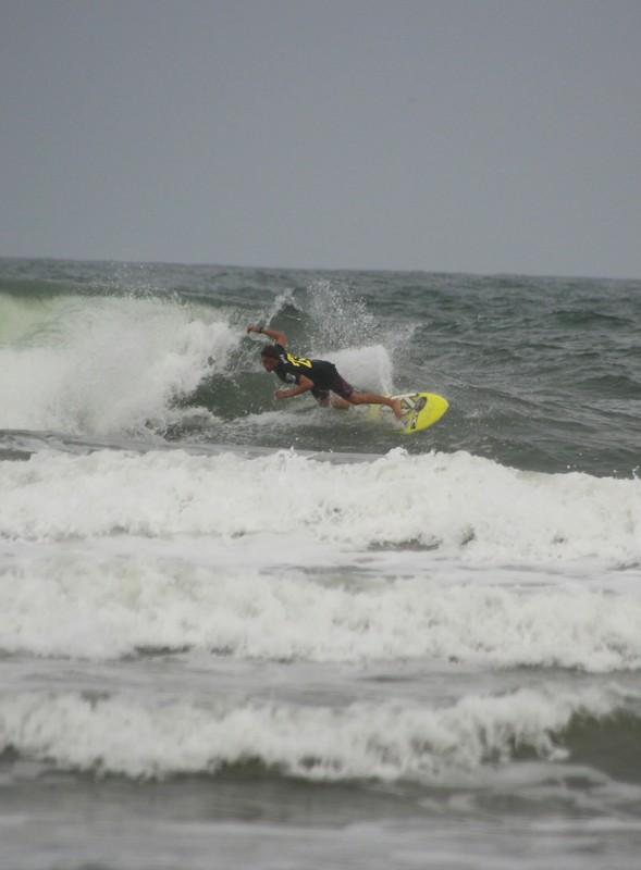 Surfer at Praia Grande