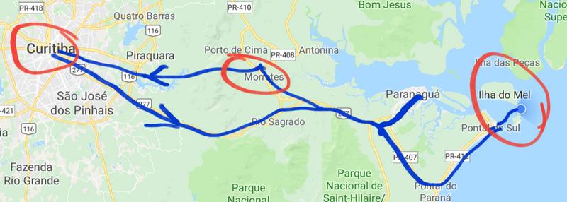 Curitiiba to the coast and back