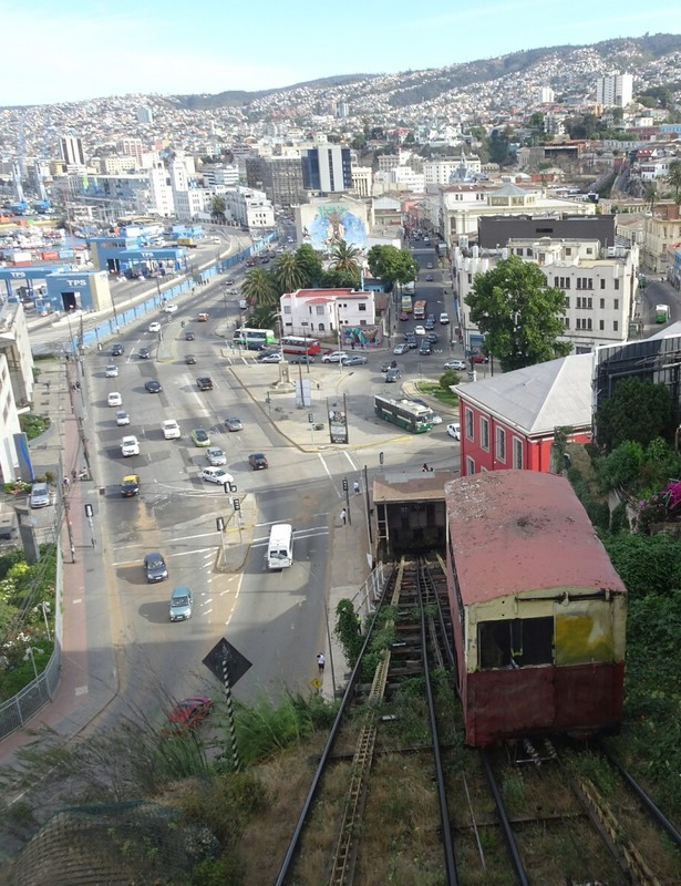 Ascensor down from Cerro Artilleria