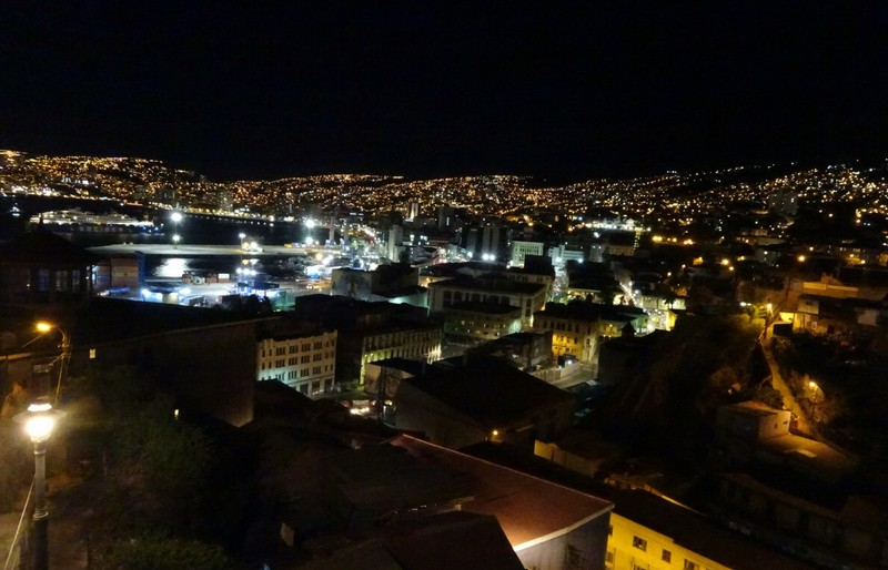 view from Cerro Artilleria at night