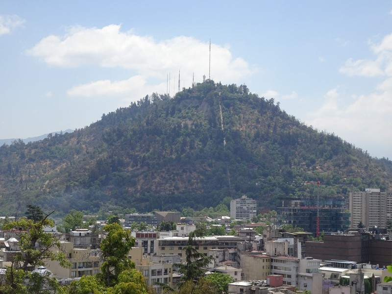 Cerro Santa Lucia Park - view of Cerro San Cristobel hill (other park visited later)
