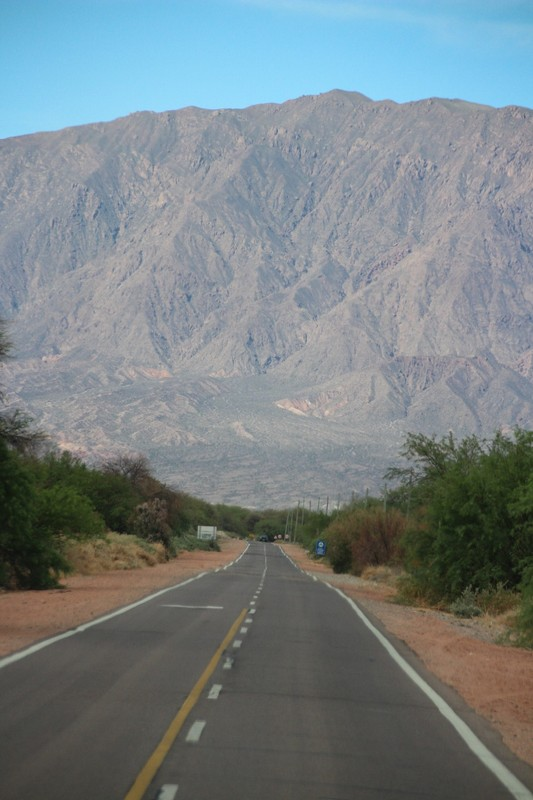 On the way back from Cafayate - road heading for Andes