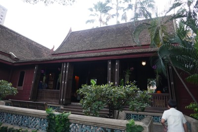Main lounge of JT house from outside