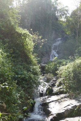 one of the waterfalls on our cycle trip