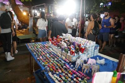 Part of huge night market