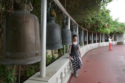 Bells on climb to Wat Saket, the Temple of the Golden Mount