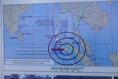 Map of tsunami impact