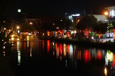Moat lit for festival