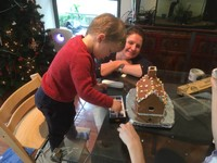 Building gingerbread house